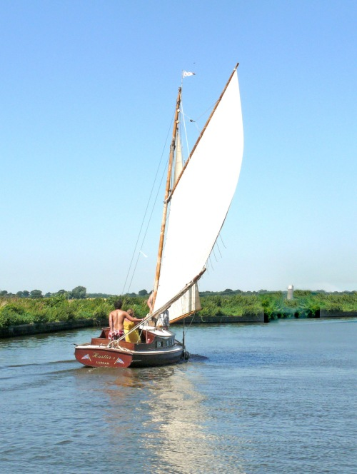 Sailing on the River Ant: photo ~ Roger Wardale