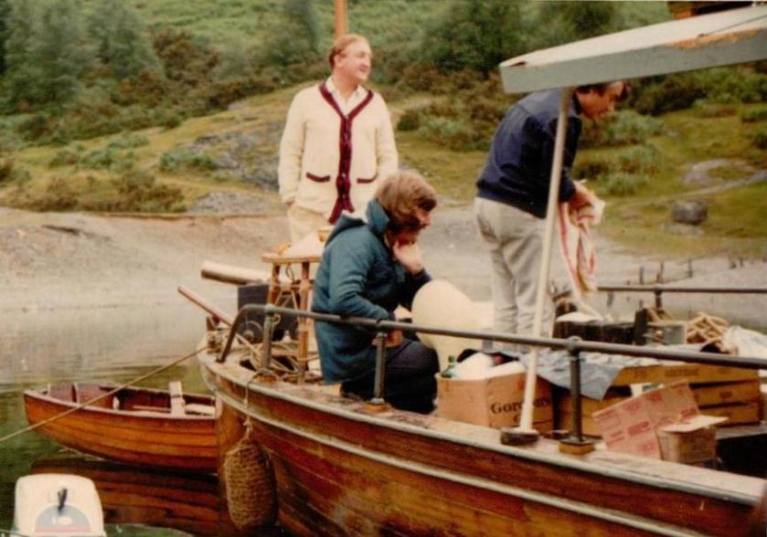 Ronald Fraser and Ian Whitaker on the houseboat1