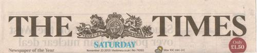 The Times Sat 23 Nov 2013
