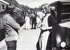 Claude and Virginia at the railway station