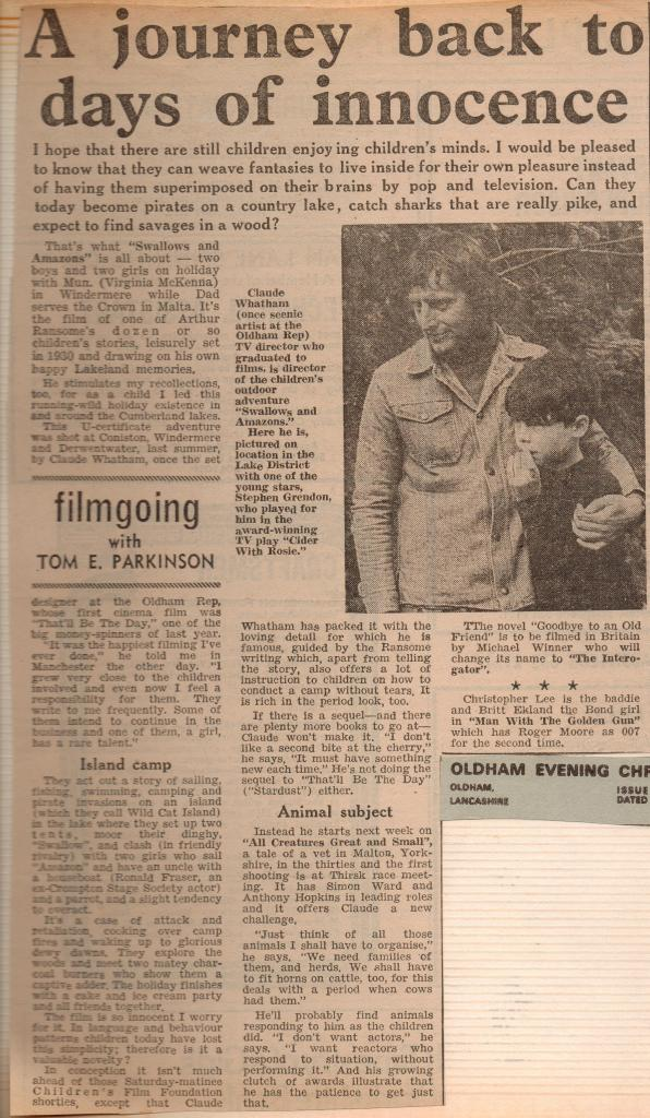 Claude Whatham profiled by Tom E Parkinson