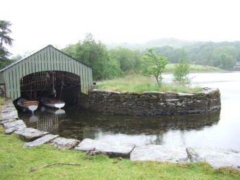 The Amazon boathouse on Coniston Water