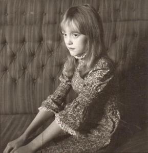 Sophie Neville  wearing Laura Ashley in 1972