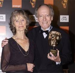 Virginin McKenna with Born Free composer John Barry