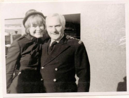 Mum appearing as a member of the Salvation Army on 'The Dick Emery Show'