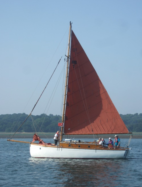 Arthur Ransome's cutter the Nancy Blackett sailing on the Orwell