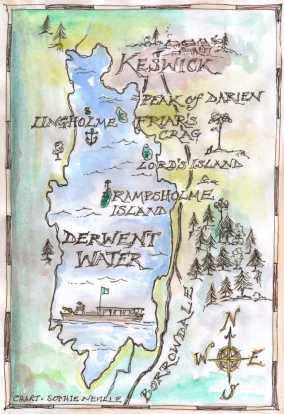 Map of film locations on Derwentwater in the Lake District
