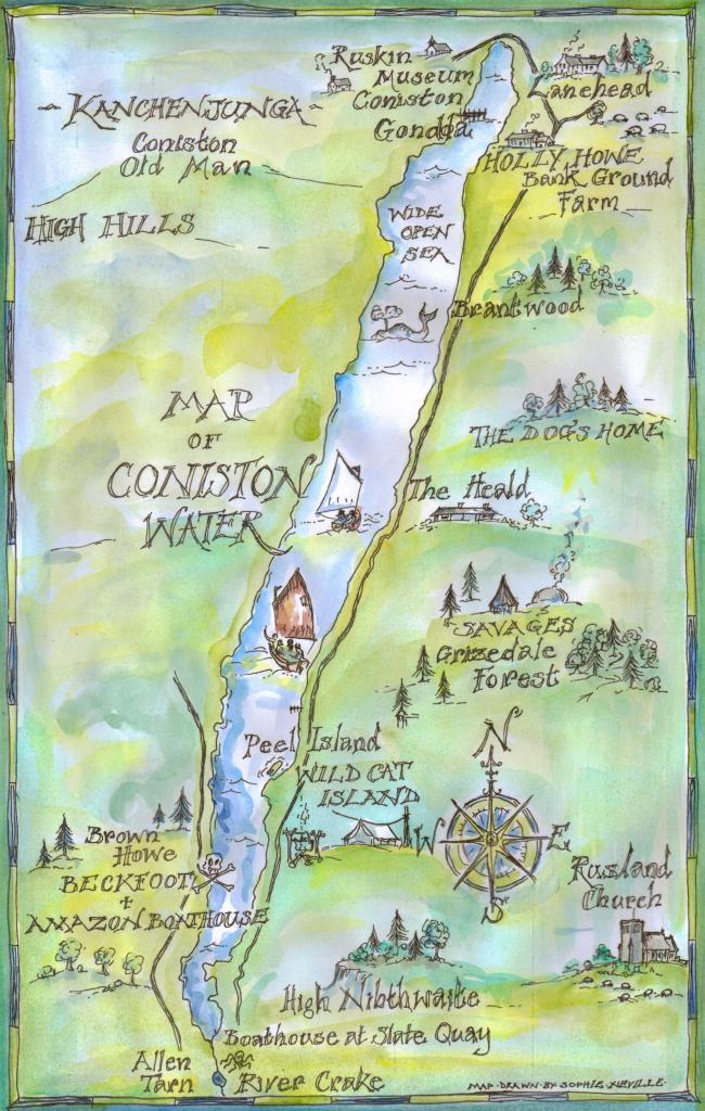 Map showing film locations around Coniston Water