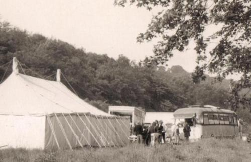 A unit base for HTV's drama serial 'Arthur of the Britons' in 1972