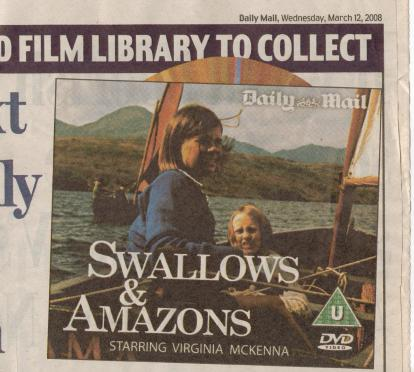 Sophie Neville on the cover of the Daily Mail DVD