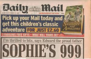 Swallows and Amazons advertised by the Daily Mail