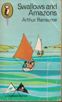 'Swallows and Amazons' Puffin book cover 1970