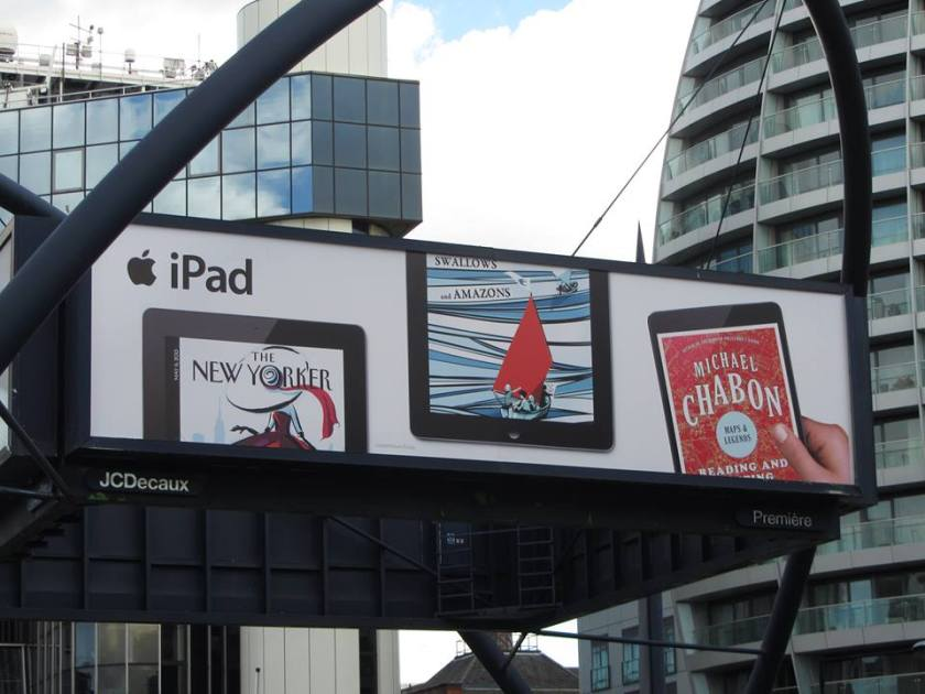 Apple iPad ad featuring Swallows and Amazons