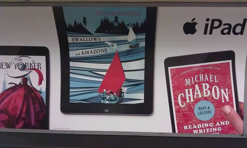 Apple iPad ad in the London Underground