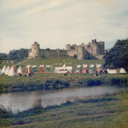 Filming 'King Arthur and the paceship'