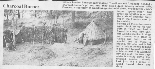 Charcoal Burners article probably late 1973