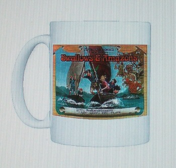 Swallows & Amazons film poster on a mug