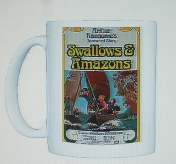Swallows & Amazons poster on a mug