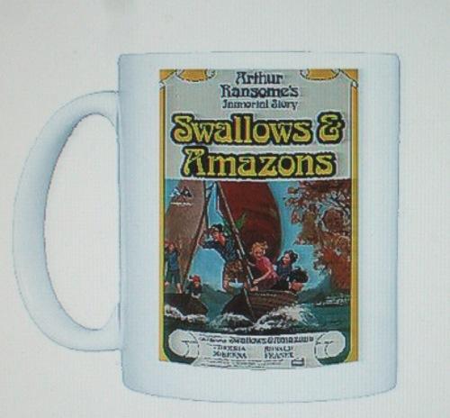 Swallows & Amazons poster on a mug