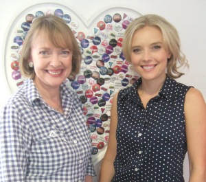 Sophie Neville with Kate McIntyre