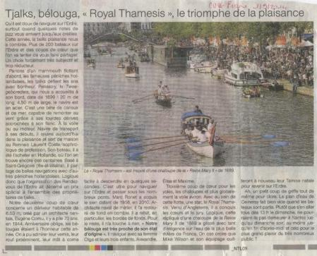 royal thamesis in the French newspapers