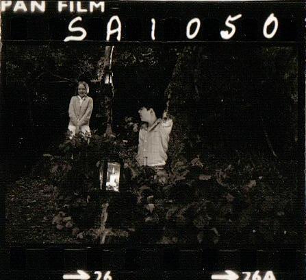 Filming on Peel Island in 1973
