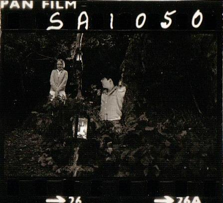 Filming on Peel Island in 1973