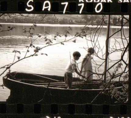 Simon West and Sophie Neville on Coniston Water