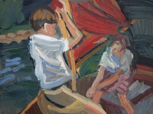 'John and Susan hoisting the sail'by Fadi Mikhail