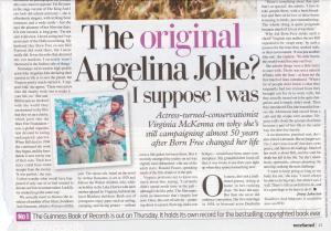 Virginia McKenna in Mail on Saturday 214