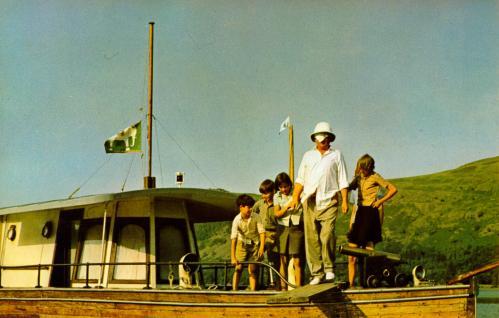 Ronald Fraser walking the plank