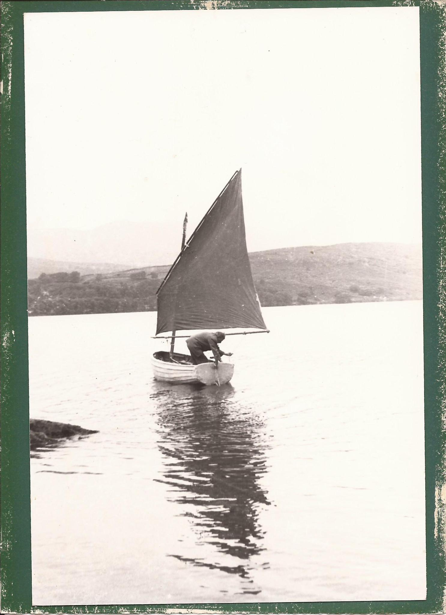 Ernest Altounyan sailing Mavis on Coniston