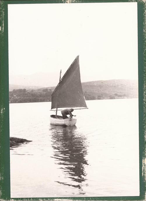 Ernest Altounyan sailing Mavis on Coniston