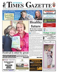 Funnily Enough on the front page of the Tavistock Times and Gazette
