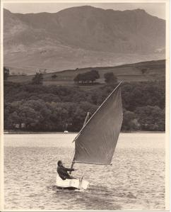 Roger sailing off Peel Island 1978 by Asadour Guzelian