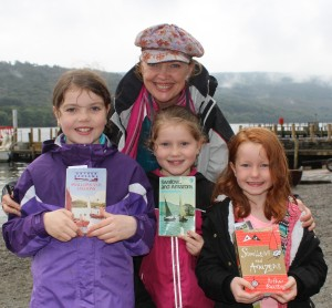 Sophie Neville at Coniston with the Rushton Girls - Hannah 10 Megan 8 and Imogen 6