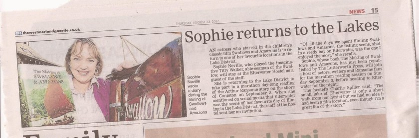 Sophie Neville returns to the Lakes