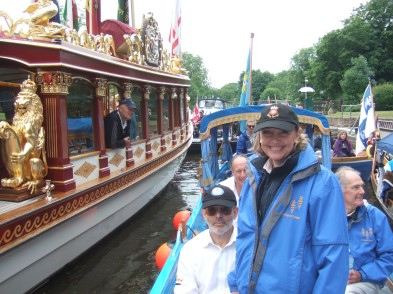 Sophie Neville with the flotilla