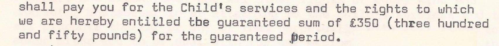 Theatre Projects contract 1973 payment