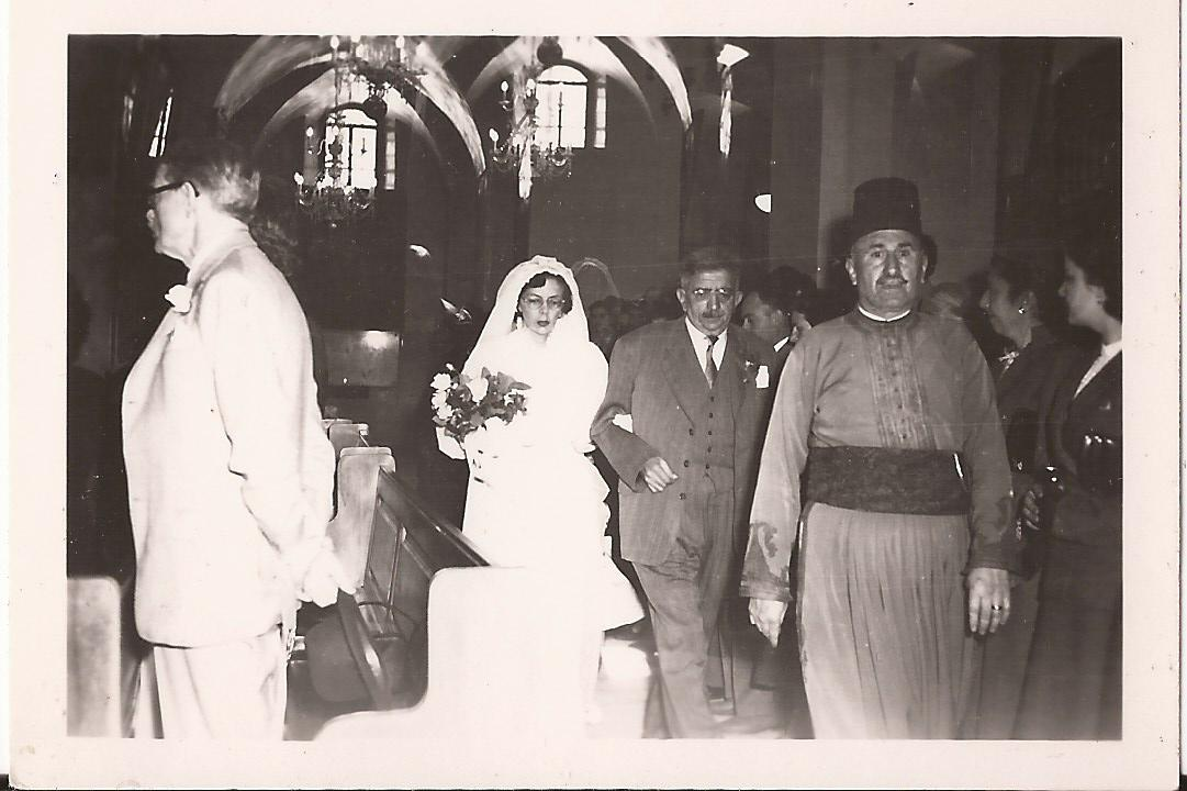 Titty and Ernest - wedding in 1954