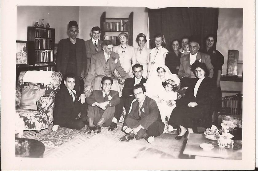 Titty's wedding in 1954