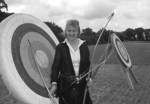 Sophie Neville at a West Berkshire bow meeting.