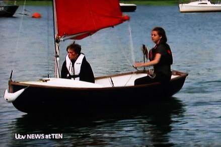 Emma sailing on ITV News