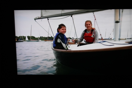 Evie Stokes with one of the junior instructors