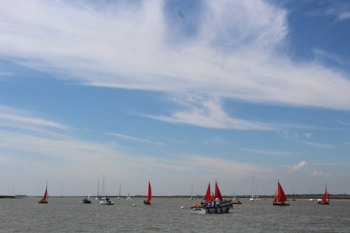 Sailing on the River Alde, Suffolk