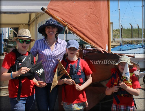 Sophie Neville with Lapwing kids