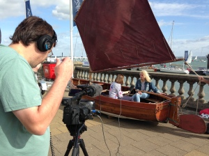 Sophie Neville with BBC South Today