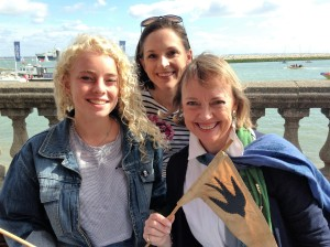 Sophie Neville with Sarah Farmer and Seren Hawkes