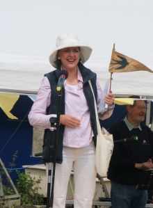 Sophie Neville opening the Arthur Ransome Jamboree at Pin Mill