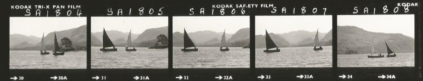 Contact sheet - sailing Swallow & Amazon on Derwentwater